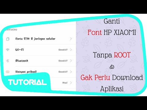 WOW !! Cara Mengubah Font Xiaomi Tanpa Download Aplikasi Font - Tutorial Android