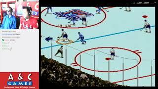 Let's Brett Hull Hockey '95 (Sega Genesis) with DTysonator & Gar
