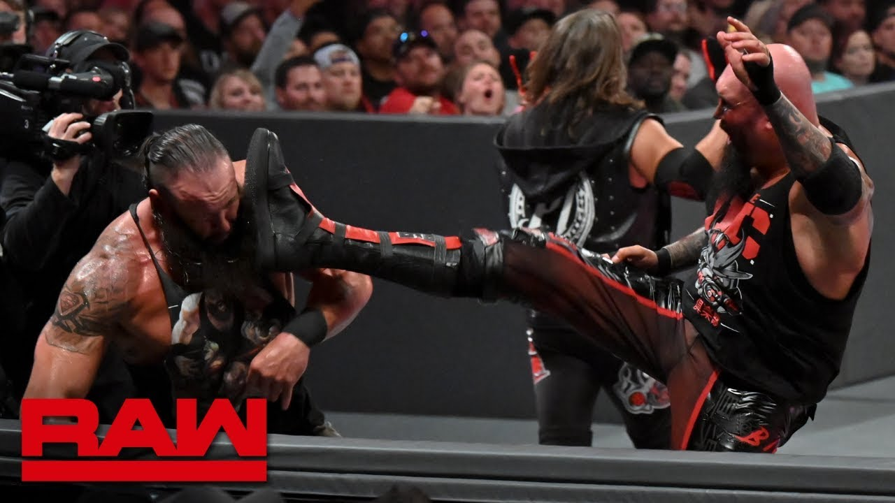 Gallows & Anderson vs. Seth Rollins & Braun Strowman – Raw Tag Team Title Match: Raw, Aug. 1