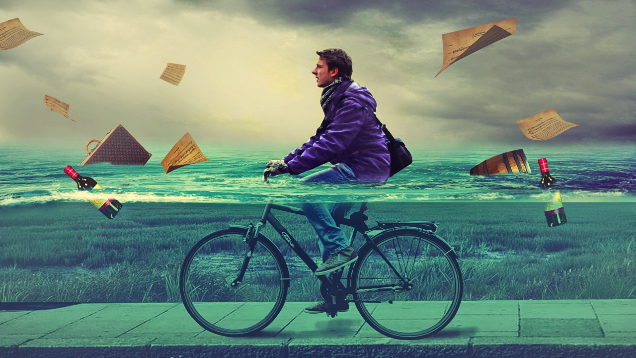 cycling in water photo manipulation | photoshop tutorial cs6/cc