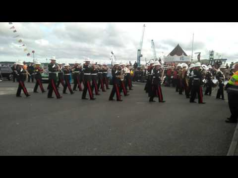 Her Majesty's Royal Marines performance at Poole.