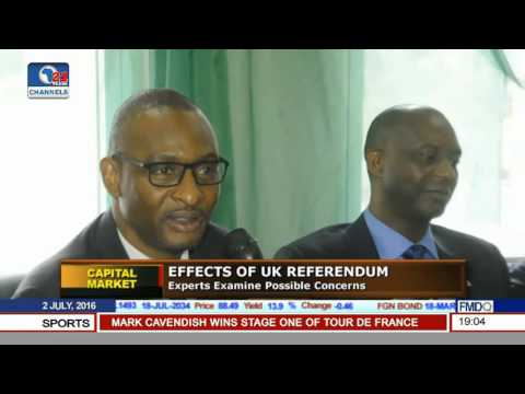 Capital Market: Experts Examine Effects Of Brexit