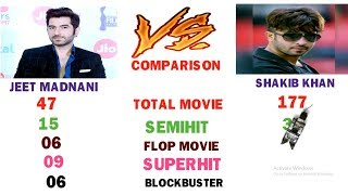 JEET VS SHAKIB KHAN Acting Comparison.Height,Weight,Total Movie,Blockbuster,Flop Movie Comparison.