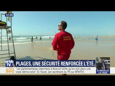 Sur les plages, une sécurité renforcée l'été