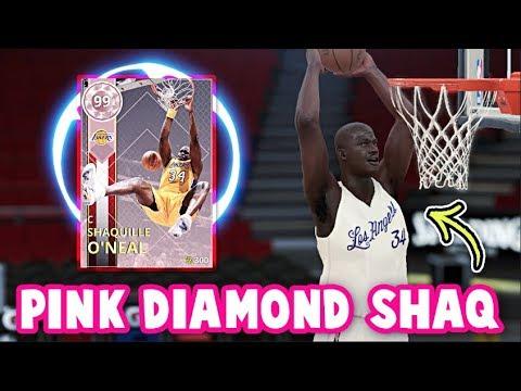 NBA 2K18 PINK DIAMOND 99 OVERALL SHAQ GAMEPLAY! | THE RAREST CARD IN NBA 2K18 MyTEAM