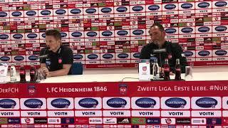 Die Pressekonferenz nach dem Spiel des FCH gegen den 1. FC Köln