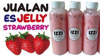 Resep Es Jelly Strawberry untuk jualan | es jeli stroberi minuman kekinian! Ide Usaha Bulan Puasa