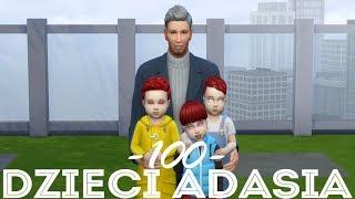 The Sims 4 Pl : Wyzwanie 100 dzieci Adama #137 - Odwiedziny u Amelki i Wampirze Trojaczki
