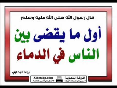 حرمة الدماء شريعة الإسلام