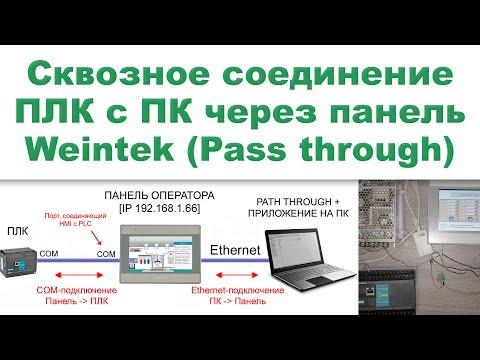 Сквозное соединение  ПЛК C компьютером через панель оператора Weintek (функция Pass-through)