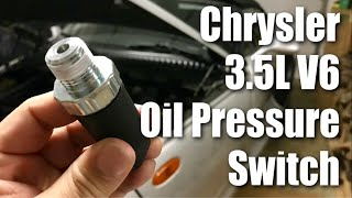 How to replace the oil pressure sensor on the 2001 3.5L Chrysler V6 engine in my Plymouth Prowler