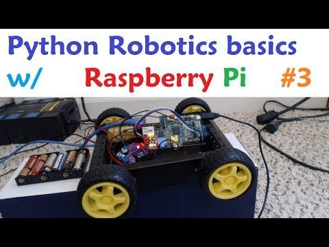 Raspberry pi with Python for Robotics 3 - Connecting 4 motors