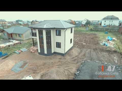 видео: Дом из сип панелей 155 м2