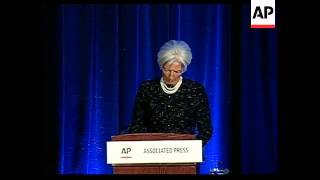 IMF Chief Lagarde comment on global economy at AP meeting