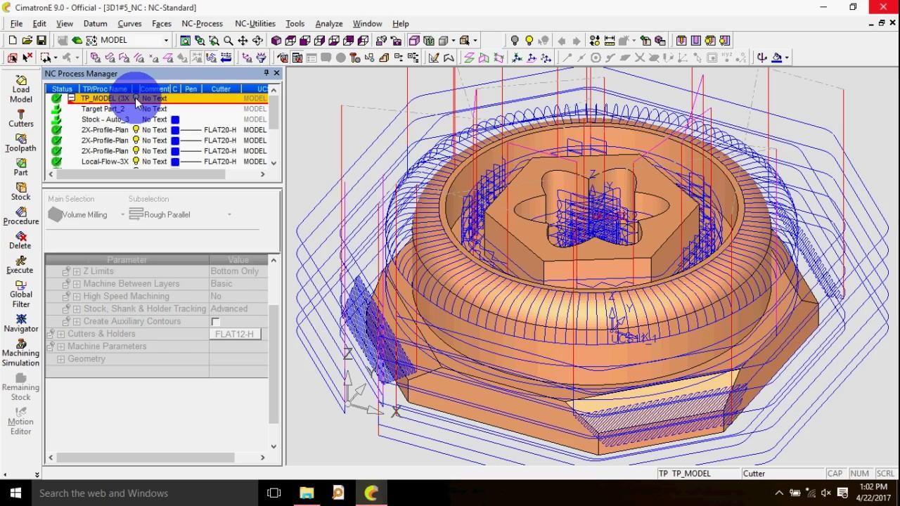 cimatron tutorial 2 by nuralim [ 1280 x 720 Pixel ]
