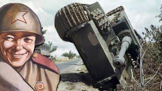 Дебют немецких тигров. Заглох двигатель, танки пришлось эвакуировать.
