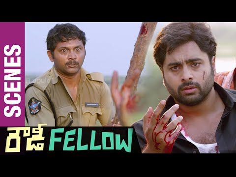 Rowdy Fellow Telugu Movie Scenes | Praveen Backstabbing Nara Rohit | Vishakha Singh