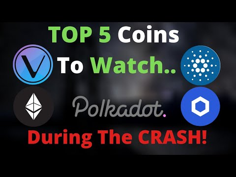 TOP 5 CryptoCurrencies To BUY During The CRASH! HUGE Breakout Coming.. DOT, LINK, ADA, VET & More!