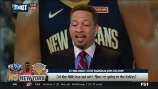 Chris Broussard SHOCKED Knicks and NBA fans losing out on Zion Williamson