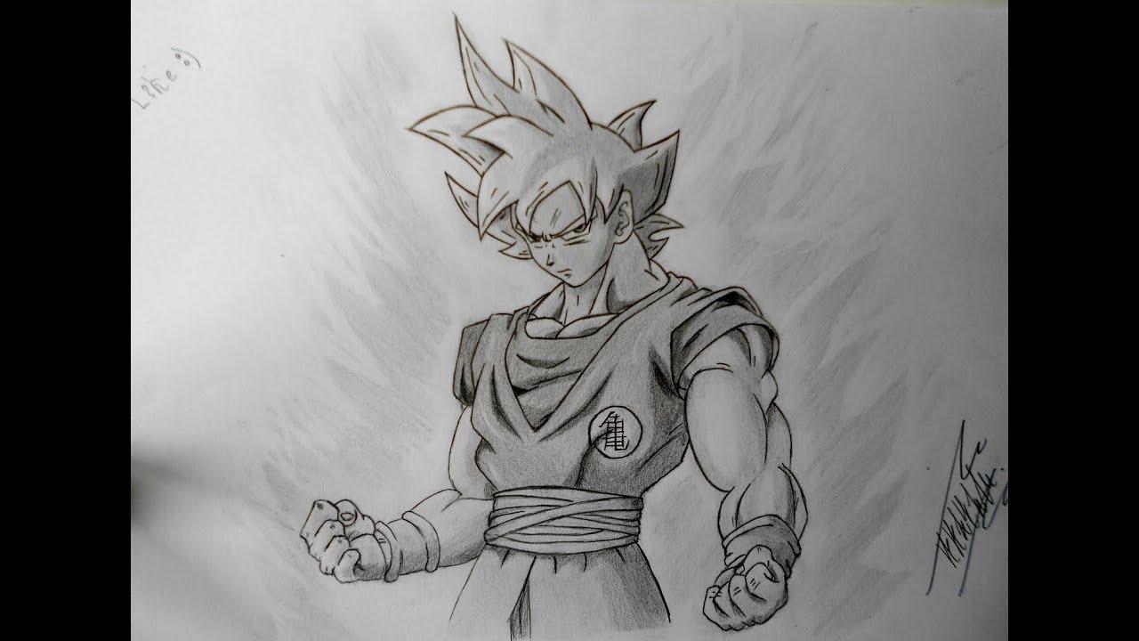Dibujando a Goku ssj Dios Dbz  YouTube