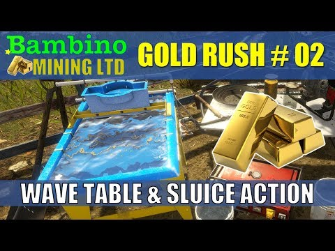 Gold Rush The Game - Game Play #2 Wave Table & Sluice Action