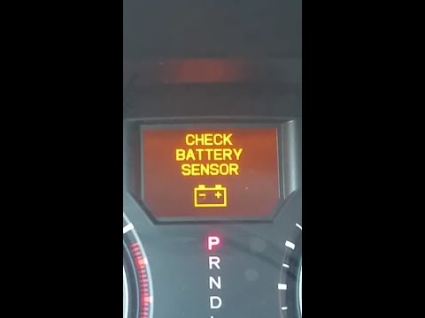 CHECK BATTERY SENSOR MESSAGE EASY FIX ON HONDA OR ACURA VEHICLES.