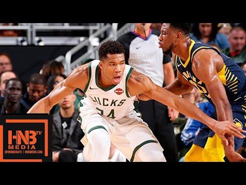 Indiana Pacers vs Milwaukee Bucks Full Game Highlights | 10.19.2018, NBA Season