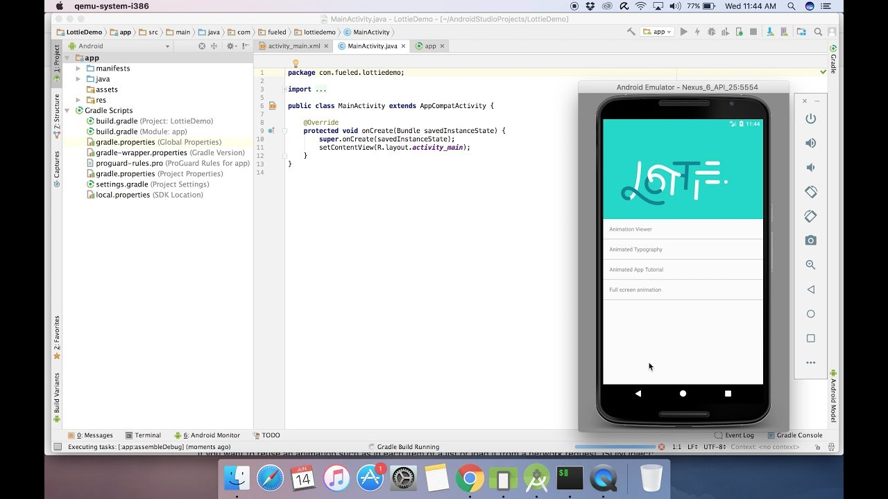 Create cool Animations in Android using Lottie