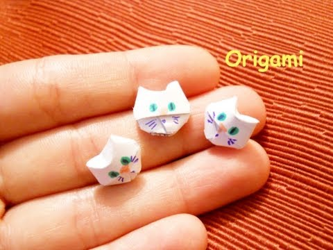Origami 3D =^-^= Cat Faces ∾ Faccine di Gatto - How To / Tutorial