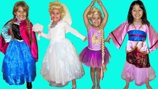 9 Halloween Costumes Disney Princess Belle Cinderella Elena Queen Elsa Anna and Rapunzel thumbnail