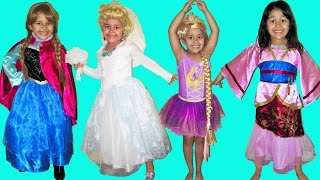 9 Halloween Costumes Disney Princess Belle Cinderella Elena Queen Elsa Anna and Rapunzel