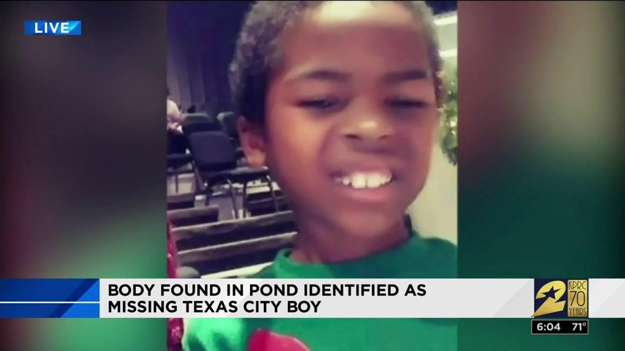 Body found in pond identified as missing Texas City boy