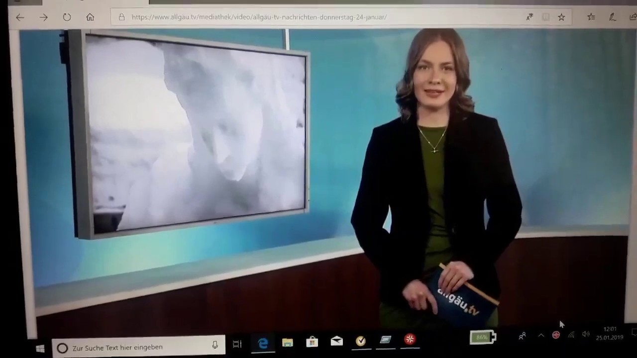 AllgäuTV berichtet über meine Pieta aus Schnee.