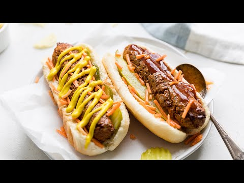 How To Make Vegan Hot Dogs | Gluten Free, Oil Free | Not Just a Carrot on a Bun