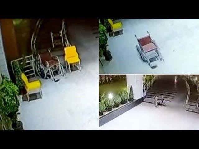 Cámaras de seguridad muestran una silla de ruedas moviéndose sola en un hospital de la Inda