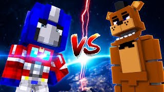Minecraft TRANSFORMERS - OPTIMUS PRIME THREATENS TO KILL CHICA AND FREDDY FNAF - Modded Gameplay