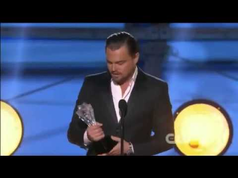 Leonardo Dicaprio WINS Critics Choice Awards 2014   Leonardo