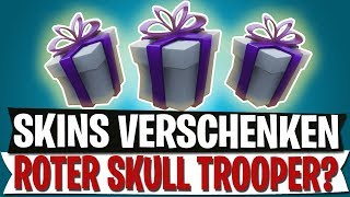 SKINS GIFT WITH GIFT SYSTEM | RED SKULL TROOPER? | Fortnite Battle Royale