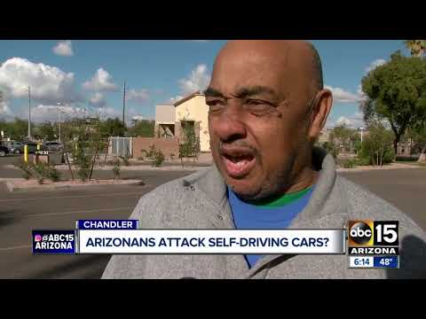 Trending HQ - Arizona Residents Are Attacking Self-Driving Cars