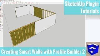 Creating a Smart Wall Assembly in SketchUp with Profile Builder 2 - SketchUp Plugin Tutorials