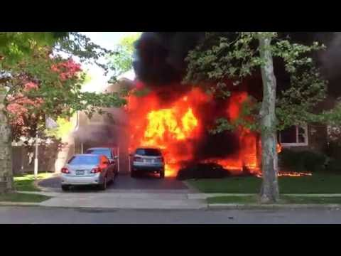 Jericho FD Fully Involved House 05/20/2016