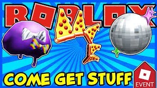 🔴 ROBLOX LIVE 🔴 GIVING OUT PIZZA MOHAWK, DISCO BALL HELMET AND PURPLE PARTY FRO