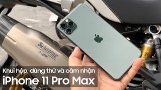 iPhone11 Pro Max Unboxing - Khui hộp, dùng thử và cảm nhận iPhone11 Pro Max Midnight Green