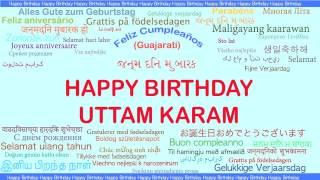 UttamKaram   Languages Idiomas - Happy Birthday