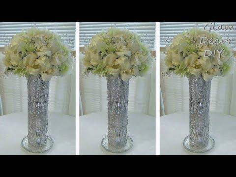 Dollar Tree DIY Glam Bling Spiral Vase