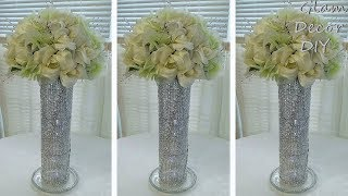 Dollar Tree DIY Glam Bling Spiral Vase