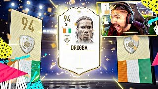 10 TOTS UPGRADE PACKS!! NEW ICON DROGBA!! FIFA 19