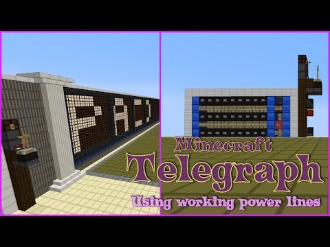 Telegraph in Minecraft (Using Power Lines) - Maizuma Games
