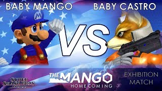 The Mango Homecoming - Baby Mango (Mario) VS Baby Castro (Fox) - SSBM - Exhibiton Match