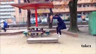 忍者女子高生 ~第二弾~ http://youtu.be/lw6p7StzmUI の唯一のNG場面...